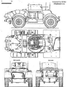 Although the Staghound armoured car was an American product, it was not used by the American forces, all the output going to . Military Photos, Military Art, Tank Drawing, Armored Vehicles, Armored Car, Wooden Truck, Ww2 Tanks, Trucks, Car Drawings