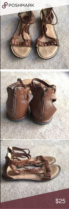 B.o.c. Born Concept brown braided sandals size 7 B.o.c. Born Concept brown braided sandals size 7 Born Shoes Sandals