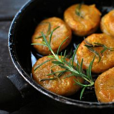 Pumpkin gnocchi with rosemary butter.