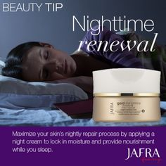 Be sure to get your beauty sleep! http://jafra.me/3r2m