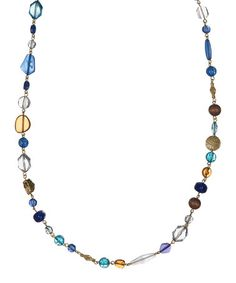Look what I found on #zulily! Blue Mixed-Bead Necklace #zulilyfinds
