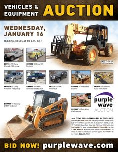 Purple Wave Auction (@purplewave) on Twitter Chevy Silverado 1500, Heavy Duty Trucks, Used Equipment, Used Trucks, Sale Promotion, Fire Trucks, Online Marketing, Tractors, Online Business