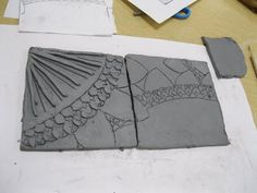 The Art Room at The Falcon Academy of Creative Arts: 6th grade art clay tile tryptichs