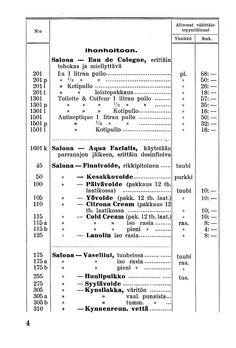Hintaluettelo, Salo 01.01.1937 - Pienpainatteet - Digitoidut aineistot - Kansalliskirjasto