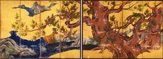 Kano Eitoku狩野永徳「檜図屏風」(安土桃山時代・16世紀)