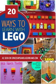 What new thing can you do with LEGO? Check out these 17 fun ways to play with LEGO. Kids Learning Activities, Educational Activities, Fun Learning, Space Activities, Steam Activities, Homeschooling Resources, Reading Resources, Classroom Resources, Holiday Activities