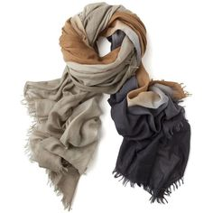 Bajra Exclusive Ombre Wool Scarf: Brown ($298) ❤ liked on Polyvore featuring accessories, scarves, sciarpe, аксессуары, women, woolen scarves, wool scarves, wool shawl, ombre scarves and print scarves