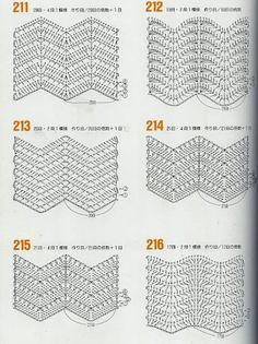 variations of the basic chevron stitch #crochetstitch #chevronstitch