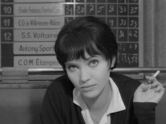 "Anna Karina, cynically smooth and mysterious as Nana in Jean-Luc Godard's ""Vivre sa vie : film en douze tableaux"" (To Live Her Life: A Film in Twelve Scenes), 1962."