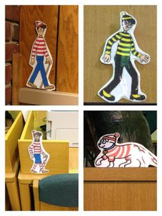 Place cut outs of Waldo and his friends all around the library and have teens try to find them. First teen to find one of them gets a prize