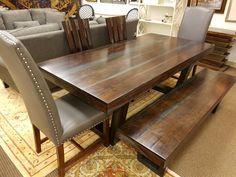Solid Mango Wood Table $895 and Mango Wood Bench $349 Call if interested #610-993-3300