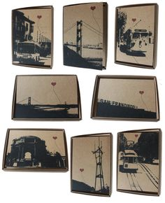 San Francisco Lover's Boxed Note Card Set by noteify on Etsy