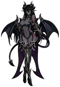 Fantasy Male, Fantasy Demon, Demon Art, Dark Fantasy Art, Fantasy Girl, Female Character Design, Character Art, Sucubus Anime, Female Monster