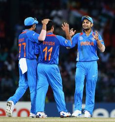 Piyush Chawla took two wickets to go with Harbhajan Singh's four as England collapsed to 80 all out