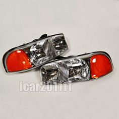 0306 silverado 0406 gmc sierra pickup red clear led tail