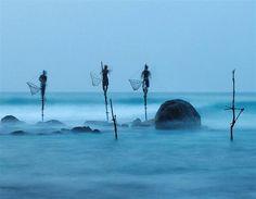 Mención honorífica: Pesca con zancos (© Ulrich Lambert/2012 National Geographic Photography Contest)