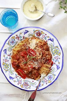 spaghetti squash bake #vegetarian #glutenfree