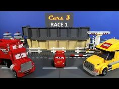 CARS 3 Track Race race 1 Can Lightning McQueen make it around the track or will one of the other race cars try to push him off? Lego Disney, Disney Pixar Cars, Florida, Lego Architecture, Lightning Mcqueen, Lego Batman, Workout Pants, Racing, Marvel