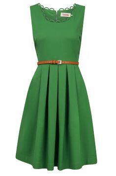 Louche Noviaz Green Dress #joy *love this