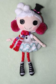 PATTERN Lalaloopsy Winter Snowflake Crochet by epickawaii on Etsy