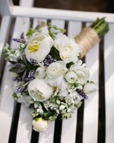 Freesia, roses, ranunculus, succulents, and lavender
