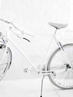 all white bike race interior