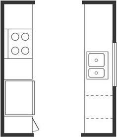 Corridor or Galley Kitchen Layout. This is basically what I have ...