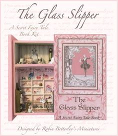 "The Glass Slipper - Inspired by Cinderella - ""If the Shoe Fits""...Welcome to The Glass Slipper boutique! This kit includes everything you need to complete both the secret book and the interior. Mixed Micro Scales. Part of our Secret Book collection…""Secret Fairy Tales"". These books are sized just a tad larger than the original collection, at 1 3/4"" w x 2 5/8"" h closed."