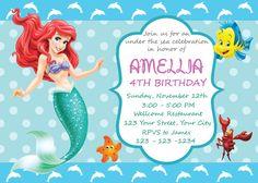 Las 65 Mejores Imágenes De Invitaciones De La Sirenita Ariel