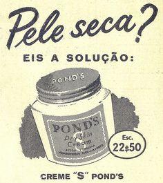 Portugese ad for Pond's cream  Século Ilustrado, No. 935, December 3 1955 - 28a by Gatochy, via Flickr