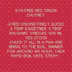 Syn free sweet onion chutney – Food for Healty Slimming World Dips, Slimming World Recipes, Healthy Eating Recipes, Cooking Recipes, Sliming World, Syn Free, Good Foods To Eat, Vegetable Drinks, Health Snacks