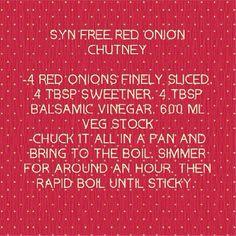 Syn free sweet onion chutney
