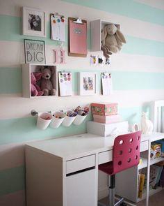 Beautifully Organized Little Girl's Desk