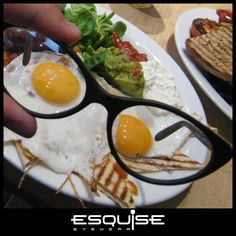 London Calling for Esquise Eyewear | Funny fried eggs