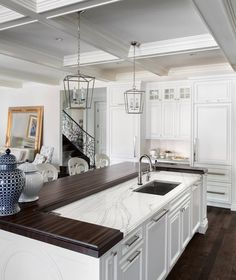 Wood and marble goodness ... | by Luxe Kitchens & Interiors |