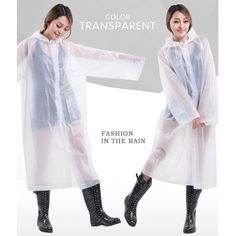 New Fully Transparent, Poncho Design Raincover Description: Material: Polyester Gender: Universal Raincoat/Rain-proof Pants/Rain Cape: Rainwear Age Group: Adults Product: Rainwear Outdoor Activity: Hi