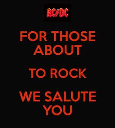 Sorry, nothing to do with traditional pondering but I LOVE AC/DC.