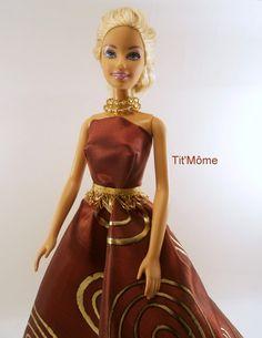 Robe princesse rouge et or