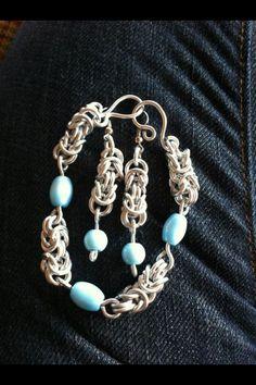 Byzantine chain earrings and bracelet.