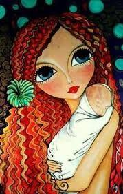 Resultado de imagen para romi lerda Woman Painting, Painting For Kids, Face Stencils, January Art, Gothic Fantasy Art, Art Studio Design, Arte Pop, Eye Art, Whimsical Art