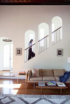 A light touch with the interiors brought grace and modernity to the home's 1920s architecture.   Andrew Bird and Katherine Tsina at Home –Lonny.com