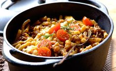 Baked Bean Bolognaise .. Budget friendly , only 250g Minced meat , feed 4