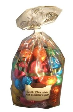 Cemoi Chocolatier Milk Chocolate Hollow Easter Eggs Easter Gift Present #easter Each order has 40 individually wrapped Cemoi Hollow Milk Chocolate Eggs. Each egg is about the size of a real chicken egg beautifully wrapped in foil for Easter and Spring. Makes a great Easter basket gift.