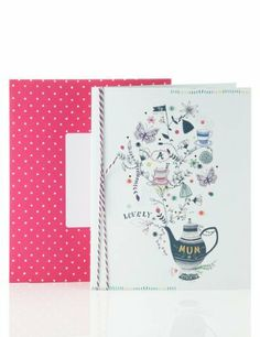 Intricate Teapot Mother's Day Card - Marks & Spencer