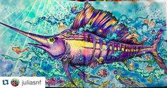 """""""Arrasou!!!! By @juliasnf  #Repost @juliasnf with @repostapp. ・・・ Livro animorphia , o rei dos mares ! #forum_da_criatividade #foretenchantée…"""""""