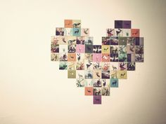 photo heart collage for the wall Heart Shaped Photo Collage, Ideas Dormitorios, Do It Yourself Inspiration, Design Inspiration, Arts And Crafts, Diy Crafts, Creation Deco, Photo Heart, Diy Photo