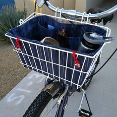 make a cute artsy liner for your bike basket!  if I can do it, anyone can!!