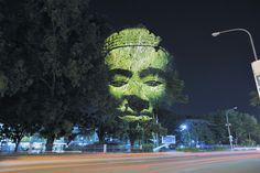 Cambodian Trees is a digital projection work by French artist Clement Briend who traveled to Cambodia to photograph these sculptural representations of deities and spirits from Cambodian culture overlaid on trees in several urban areas. Phnom Penh, 3d Projection Mapping, Digital Projection, Interactive Installation, Light Installation, Unbelievable Pictures, Photoshop, French Photographers, Art Abstrait