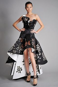 Taking her inspiration from Madame Butterfly, Marchesa designer Georgina Chapman turned tulle and beads into pure art.