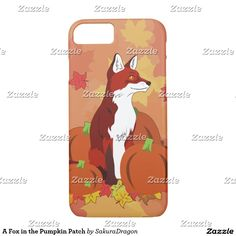 A Fox in the Pumpkin Patch iPhone 7 Case #fox #foxes #pumpkin #autumn #animals